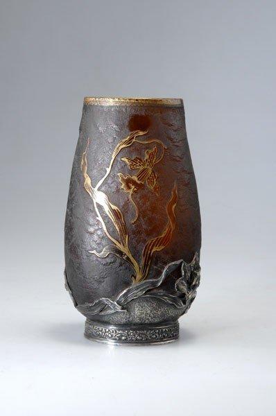 274: Verrerie d'Art de Lorraine. 'Orchidees' vase with
