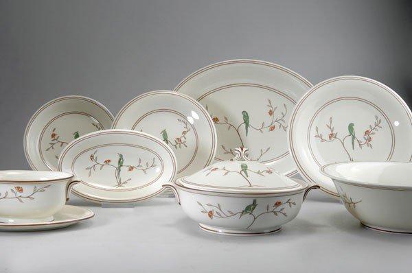 276: Marcel Goupy. Dining set, circa 1950. 48 pieces. 1