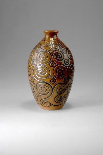 282: Joseph & Pierre Mougin, Nancy. Vase, circa 1925. H
