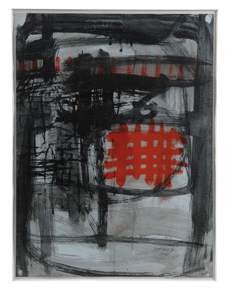 1: Ettore Sottsass. Composition. 61.5 x 46 cm. Tempera