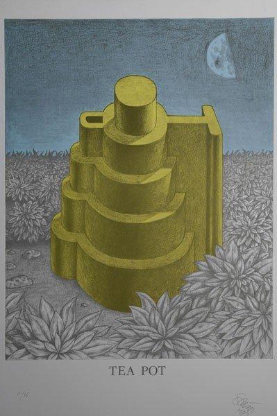 7: Ettore Sottsass. Lithograph 'Tea Pot'. 52.7 x 42.1 c