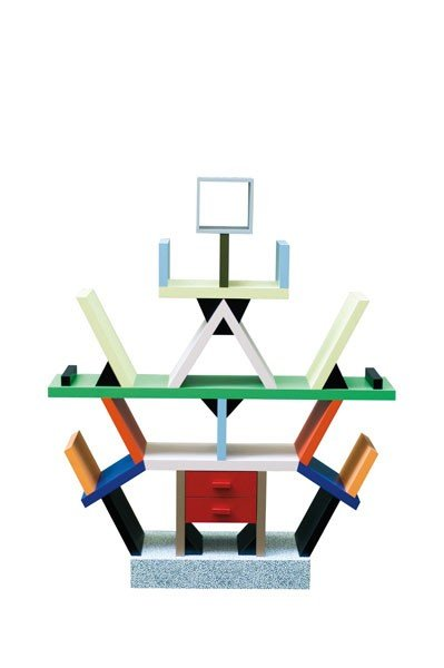 18: Ettore Sottsass. 'Carlton' shelf, designed in 1981.