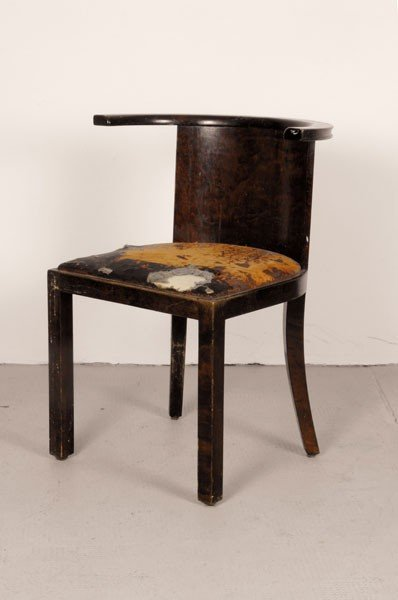 Werner West. Chair, designed in the 1920/30s. H. 75 x 5