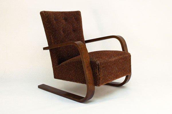 Alvar Aalto. Prototype 'Tank 400' easy chair, designed