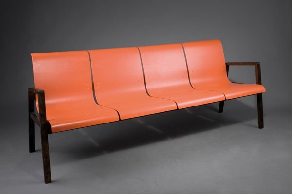Alvar Aalto. '403' bench, designed circa 1930/32. H. 79