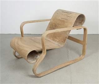 Alvar Aalto. Large 'Paimio' armchair, model no. 41, des