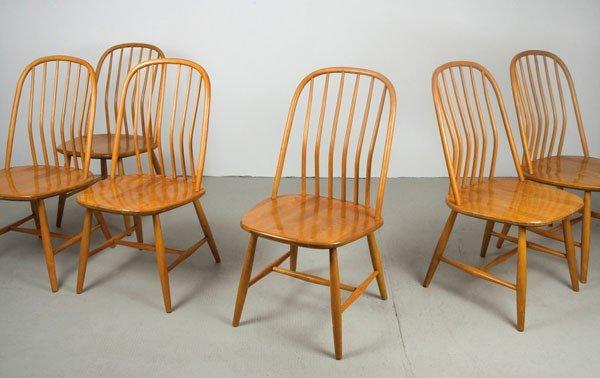 Bengt Akerblom; Gunnar Eklof. Six 'Akerblom' chairs, de