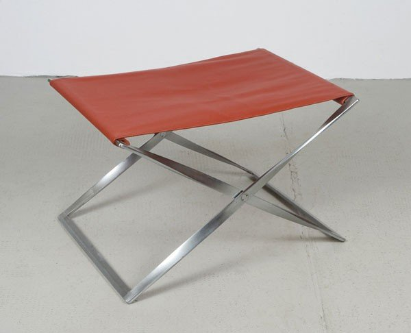 Poul Kjaerholm. 'PK 41' folding stool, designed in 1961
