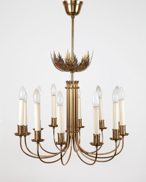 Italy. Ceiling light, designed in the 1940s. H. 81 cm;