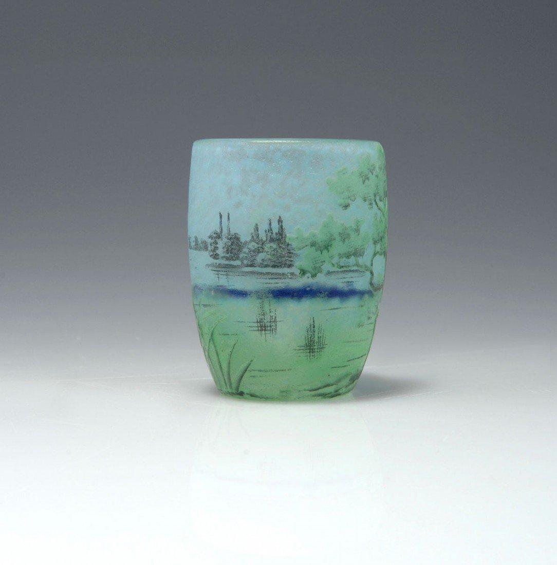 21: Miniaturvase 'Paysage lacustre', um 1910