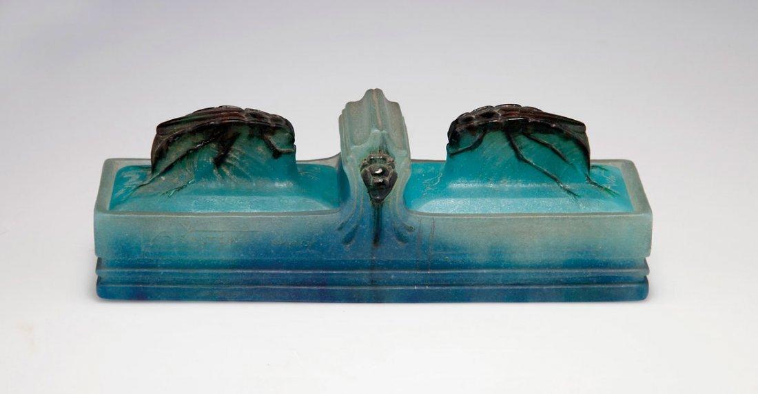 167: Deckeldose aus einer Schreibtischgarnitur, um 1920