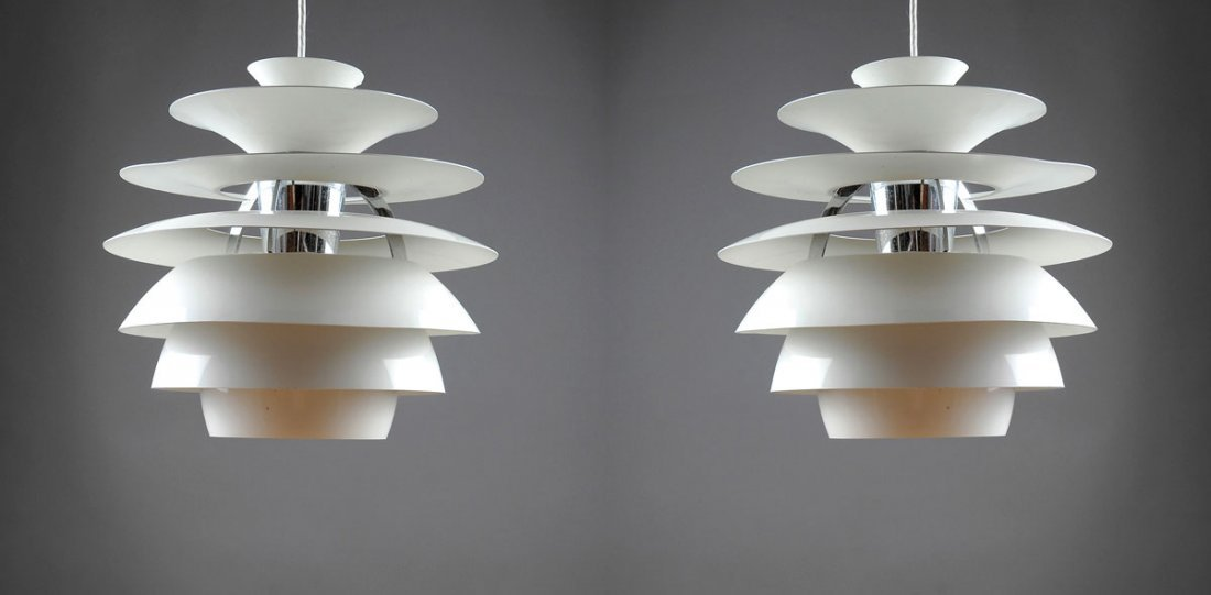 Pair of 'Type II A' pendant lights