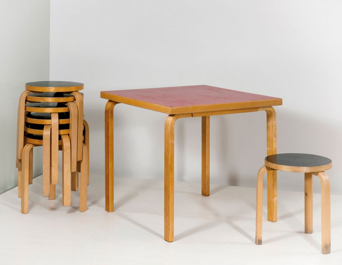 '81' table with seven '60' stools