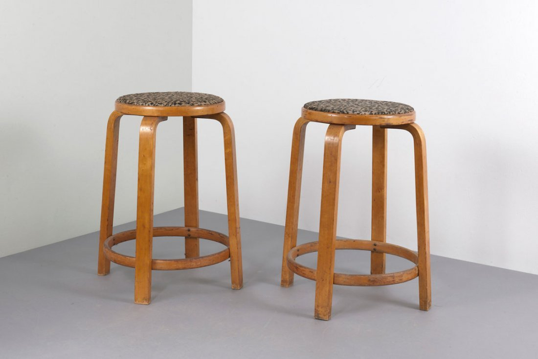 Two '64' bar stools