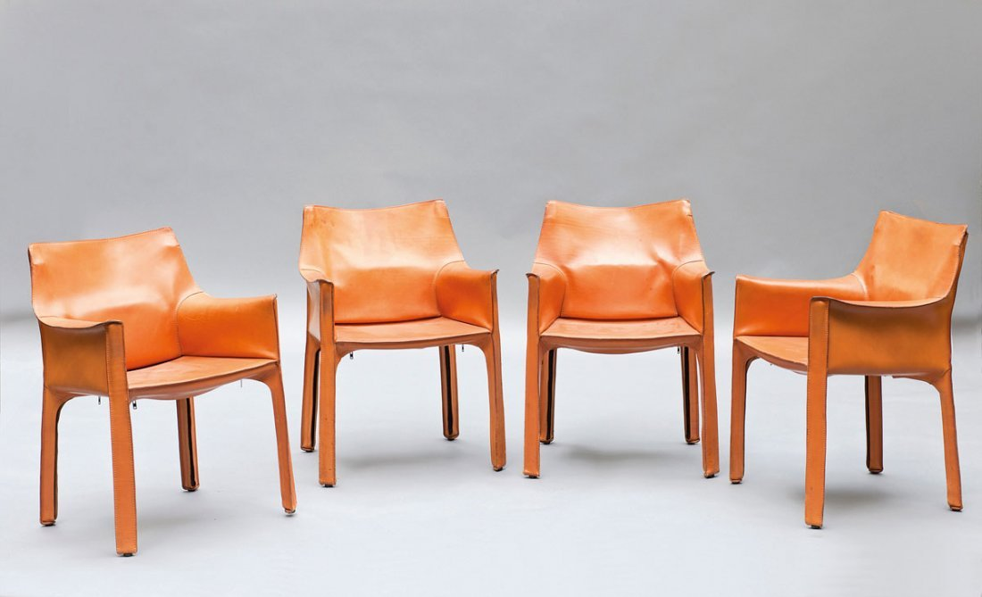 Mario Bellini. Four 'Cab 413' chairs