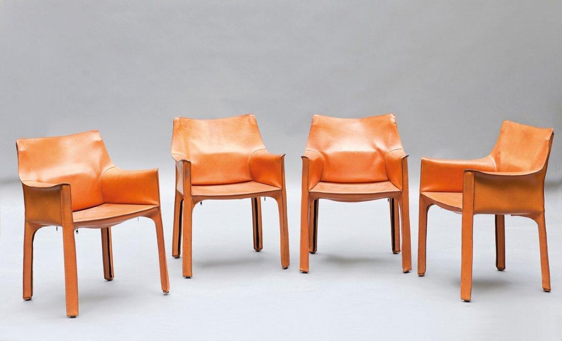 Mario Bellini. Four 'Cab 413' chairs