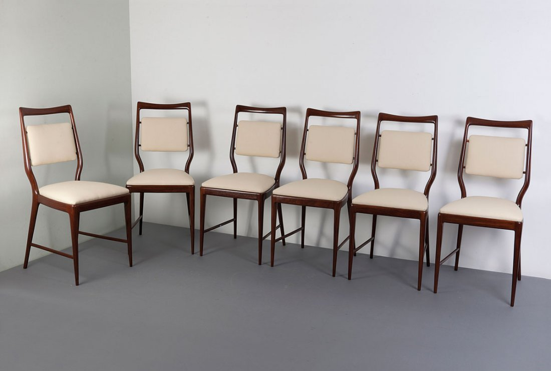 Six chairs, 1940/50s