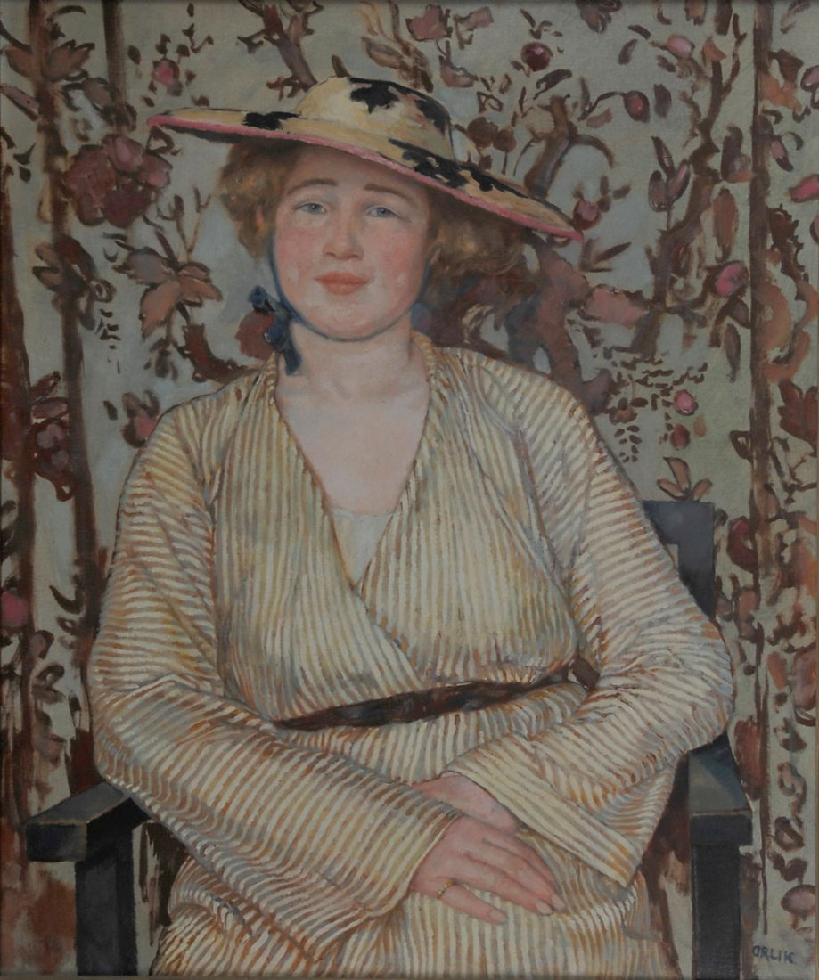 3: Young lady with hat, c1910/15