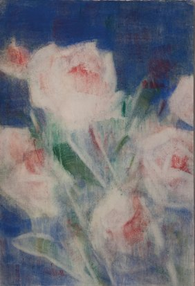 5: 'Peonies on blue', 1936