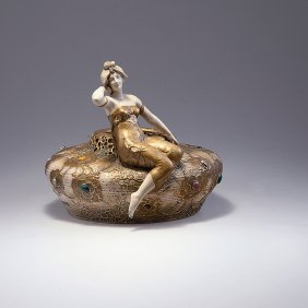 12: Bowl with woman's figure, c1900