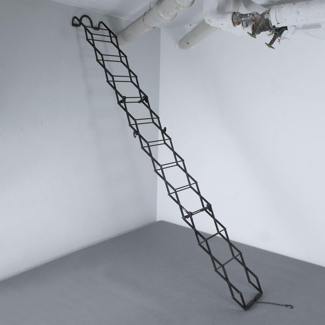 Gravity Ladders Ltd., London. Ladder, c1900. H. 28 x 38