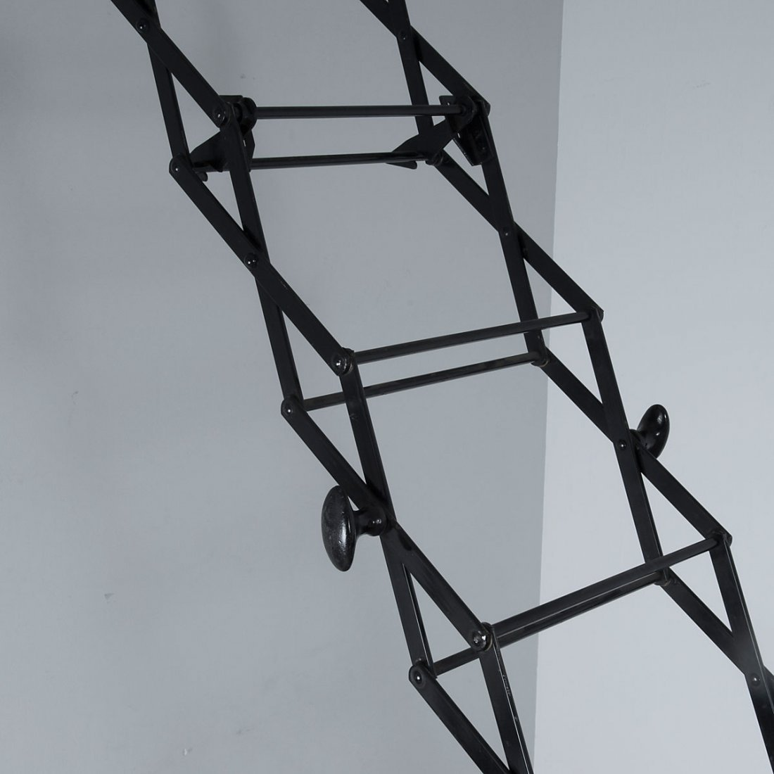 Gravity Ladders Ltd., London. Ladder, c1900. H. 28 x 38 - 2