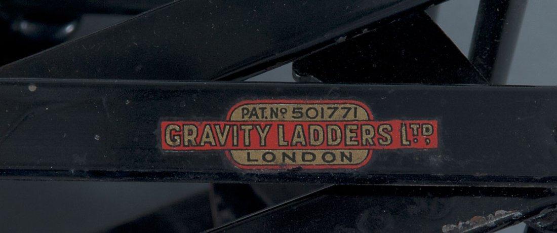 Gravity Ladders Ltd., London. Ladder, c1900. H. 28 x 38 - 4