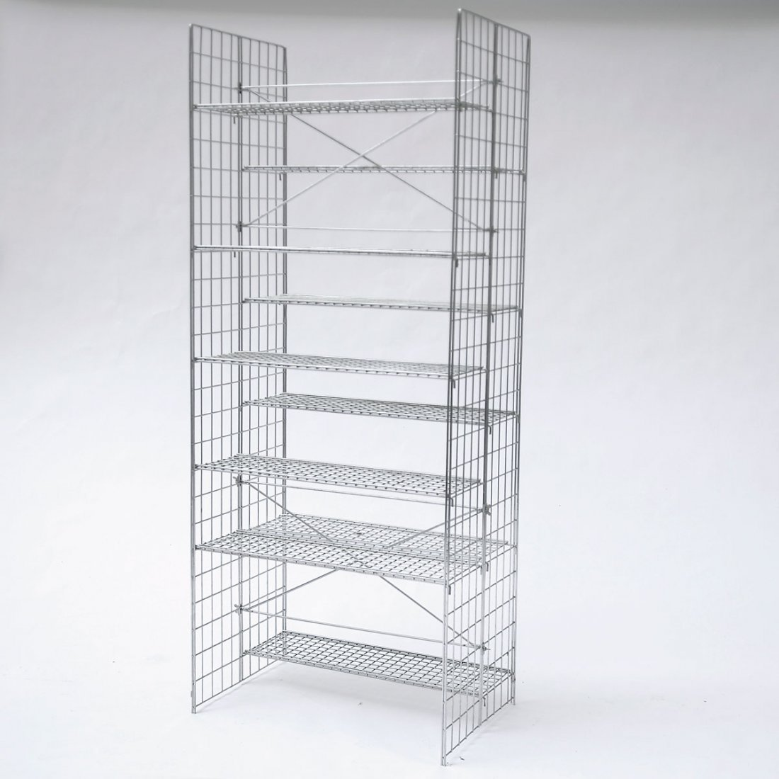 Otl Aicher. Prototype shelf, c1975. H. 188 x 85 x 50.5
