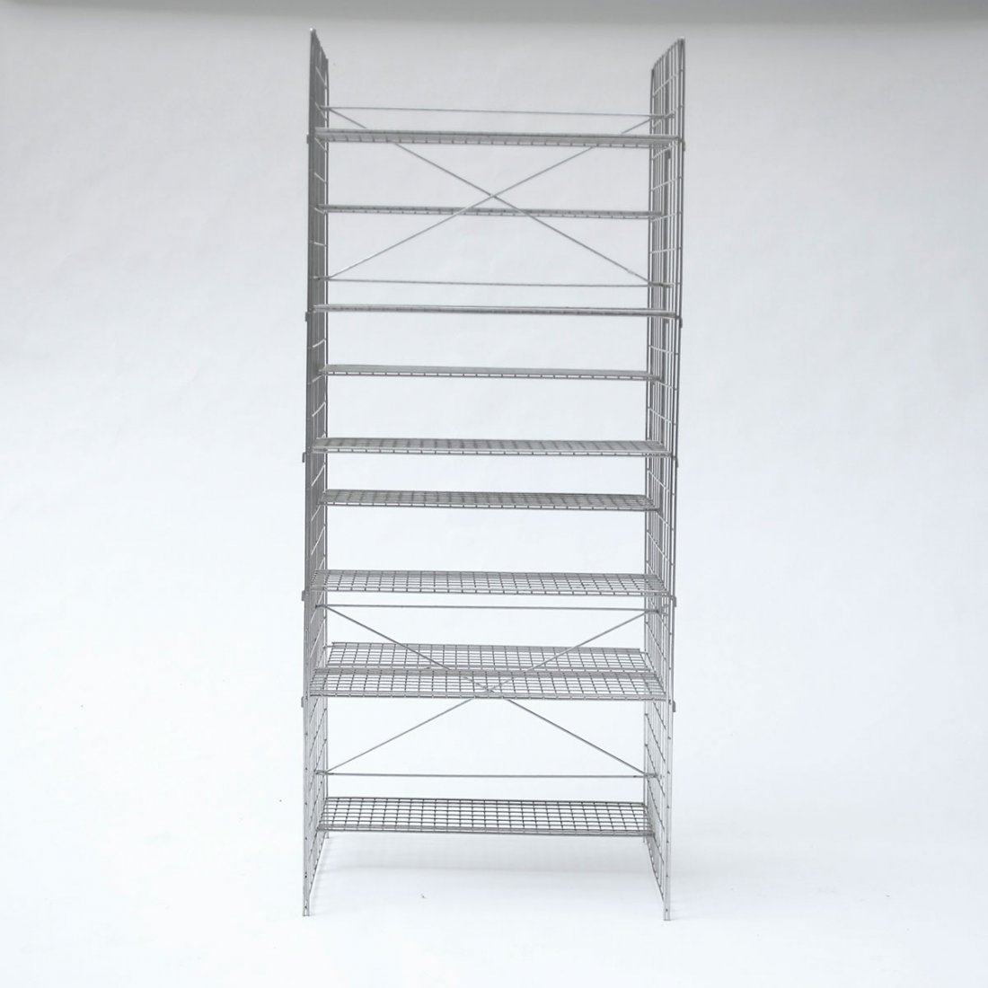 Otl Aicher. Prototype shelf, c1975. H. 188 x 85 x 50.5  - 2