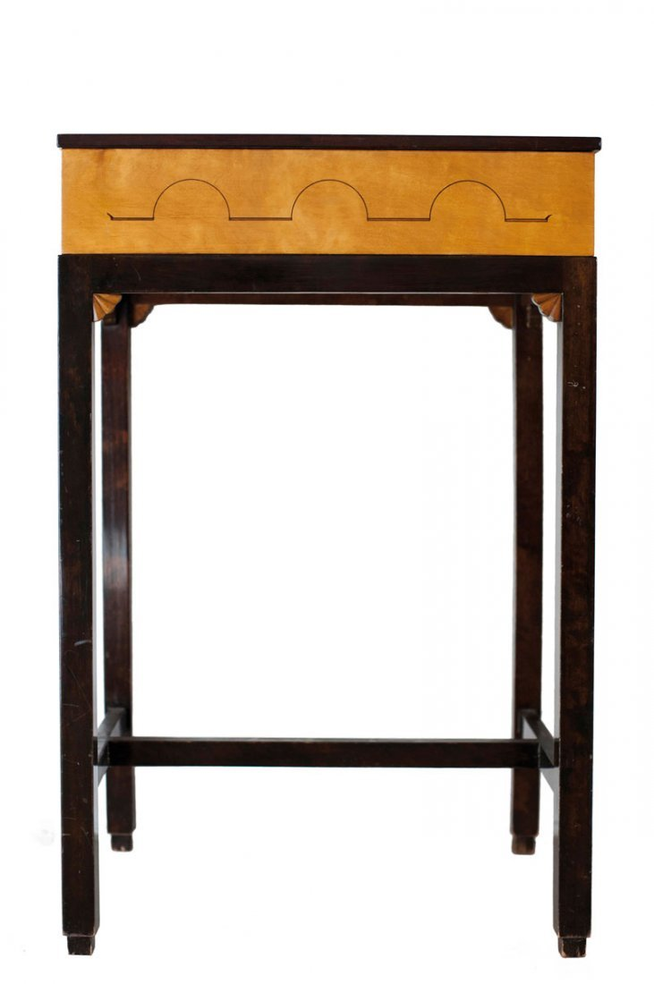 NK, Sweden (attributed). Small side table with drawer,1