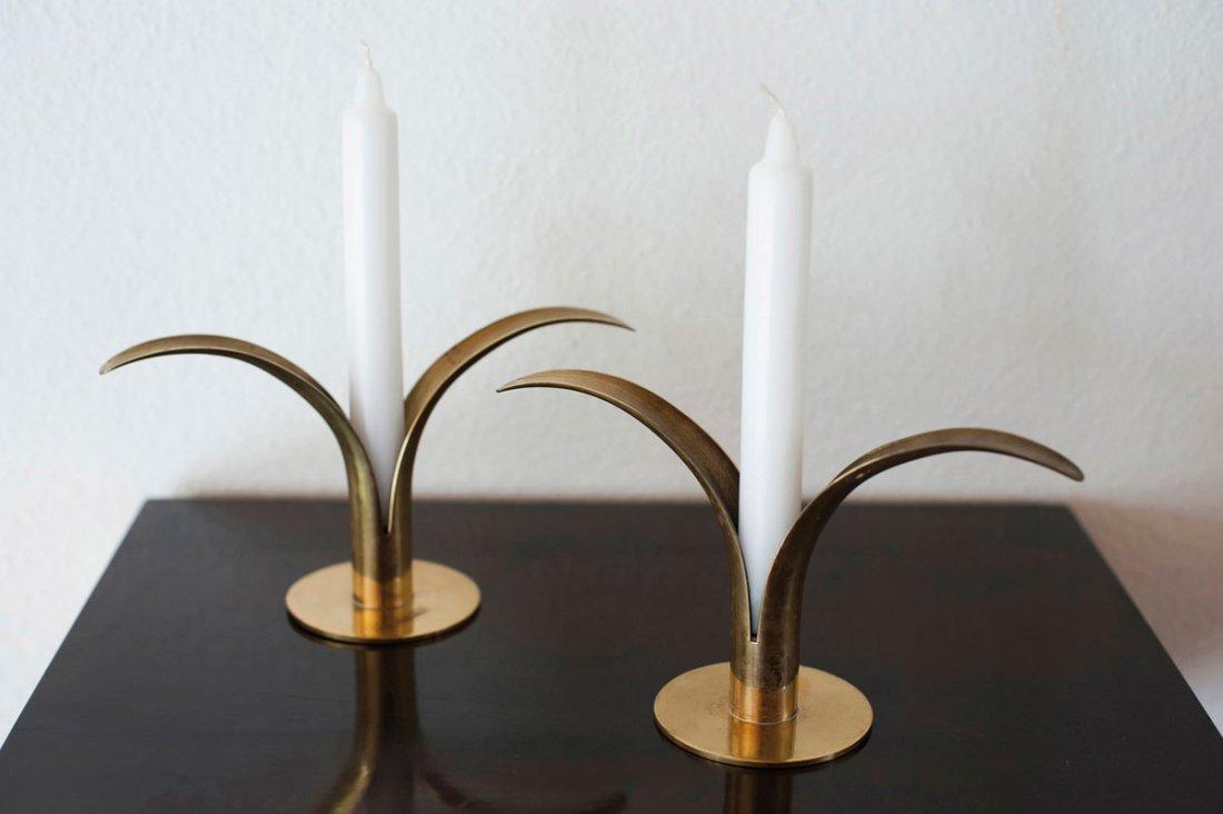 Ivar Alenius Bjoerk. Pair of candlesticks, 1930s. H. 12