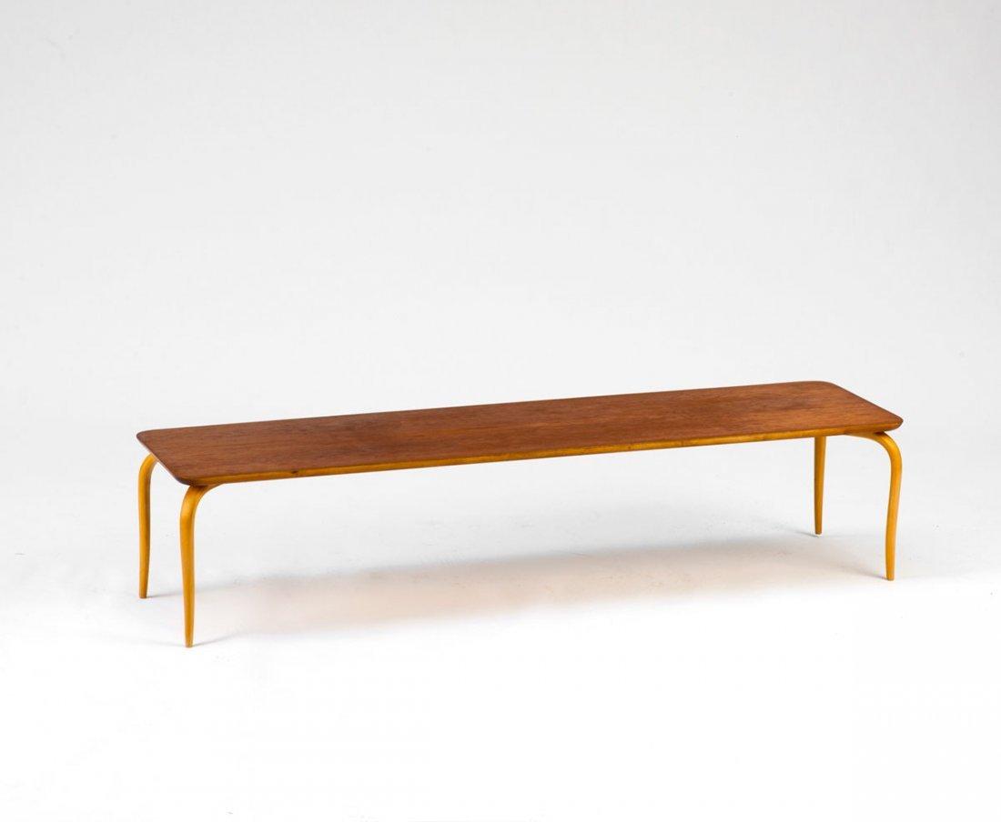 Bruno Mathsson. Sofa table, 1930s. H. 29 x 130 x 35 cm.