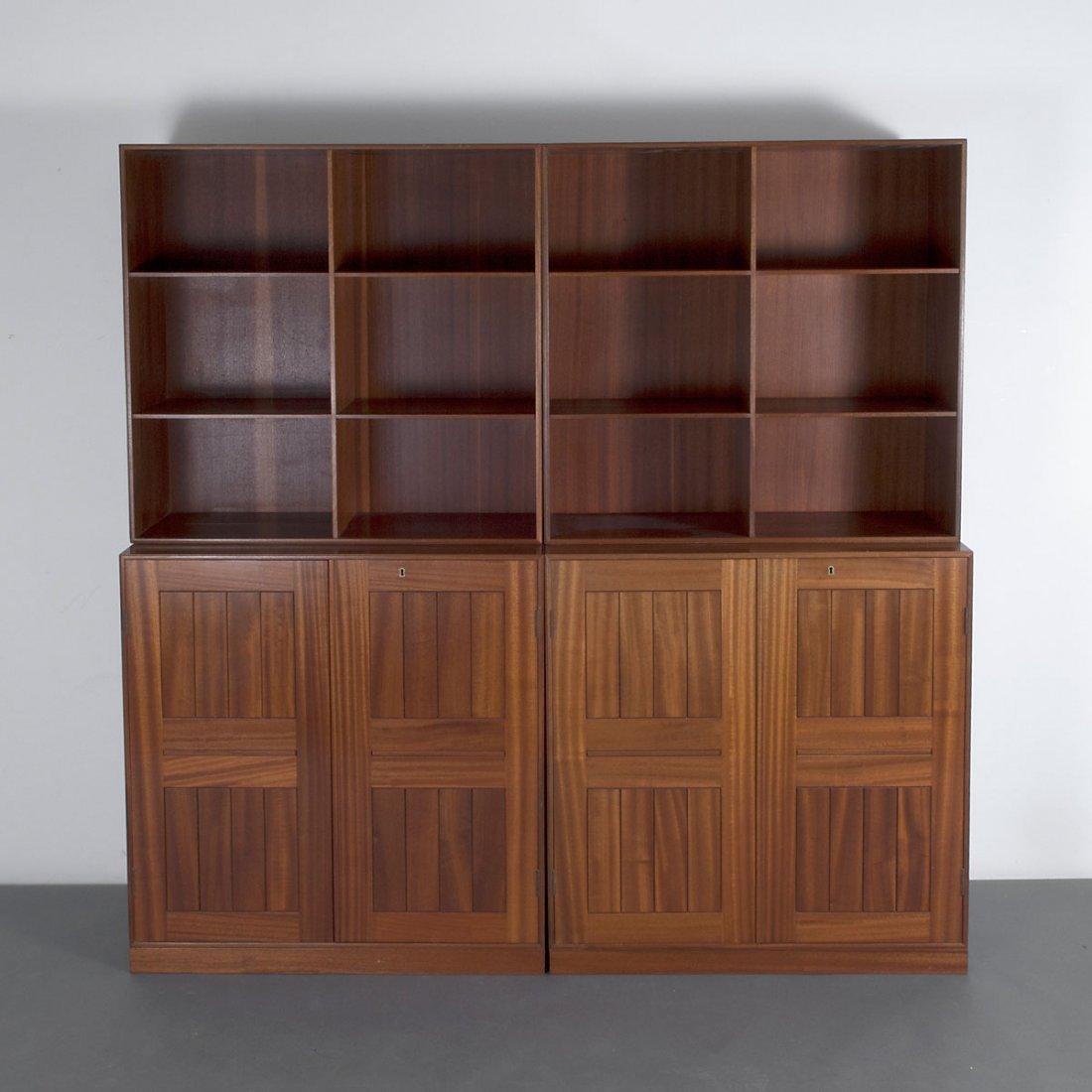 Mogens Koch. Two cabinets with shelves, 1932. Shelves: