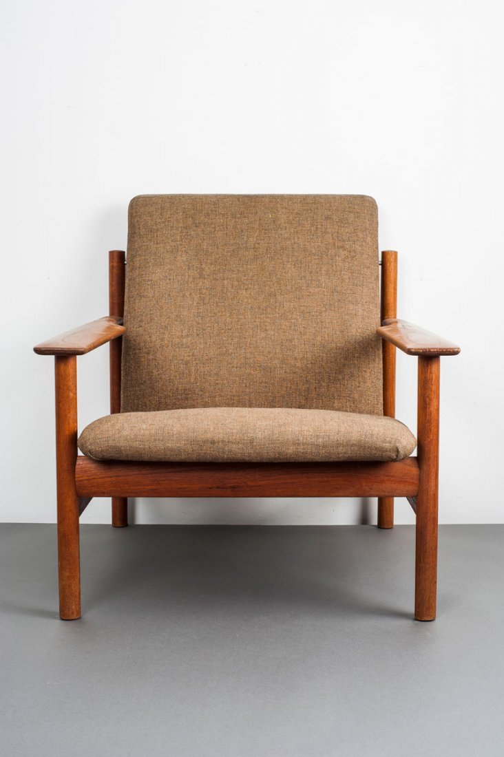 Sven Ivar Dysthe. Two chairs and a stool, c1959. Chairs