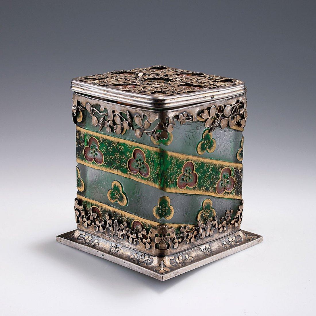 'Rosaces' lidded vase, c1893