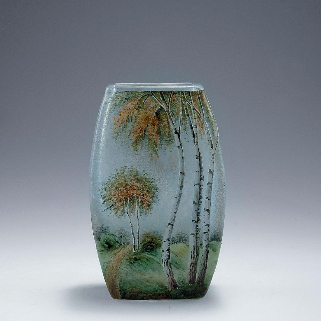 Vase with birch trees, 1920s