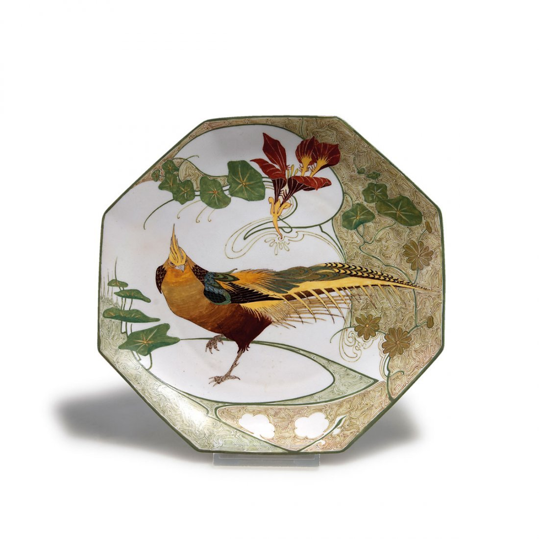 Decorative plate with pheasant, 1909/10