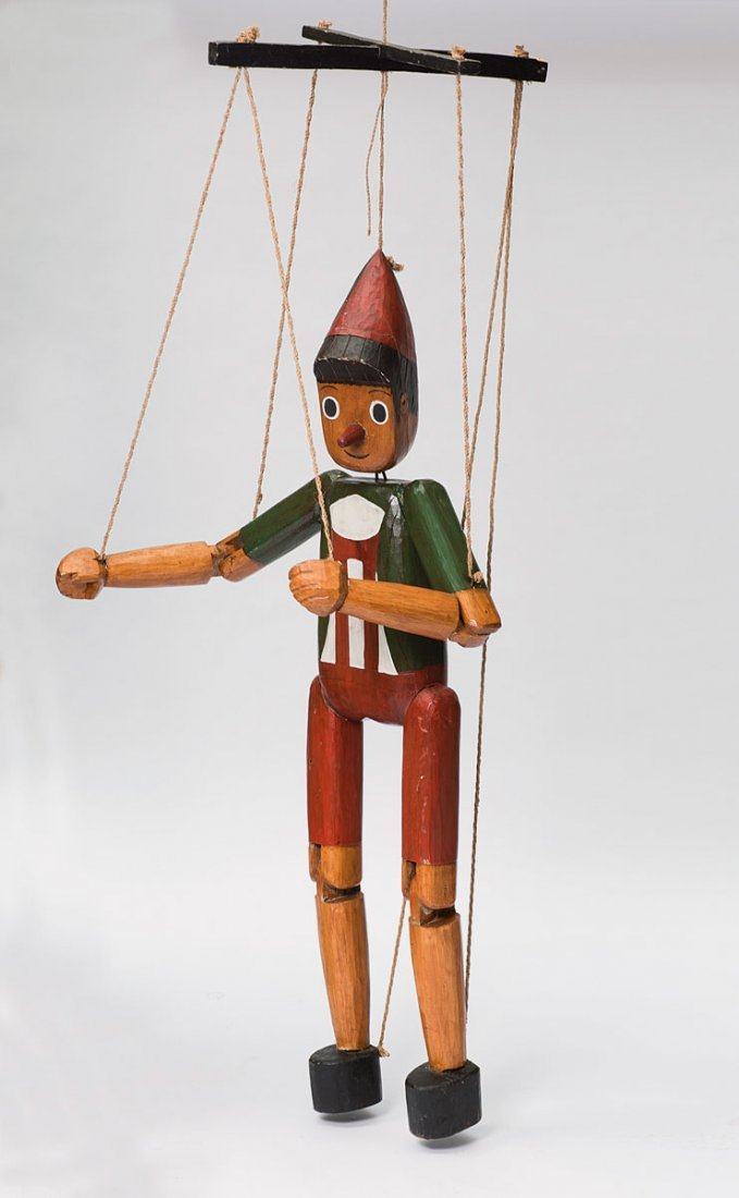 Italy. Large 'Pinocchio' puppet, 1930s. H. 153 cm (body