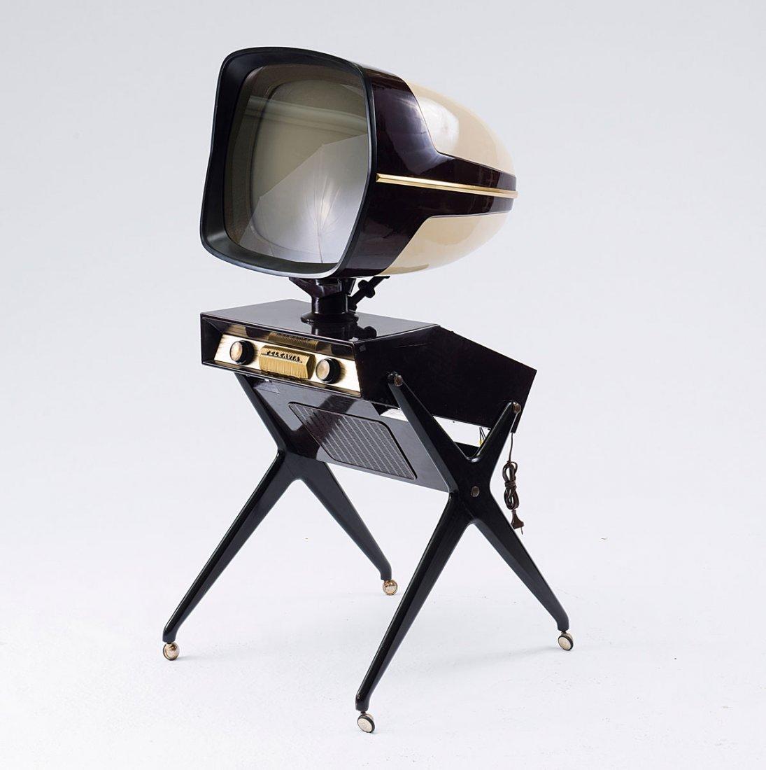 Teleavia, France. 'Teleavia' TV set, 1950s. H. 138 x 65