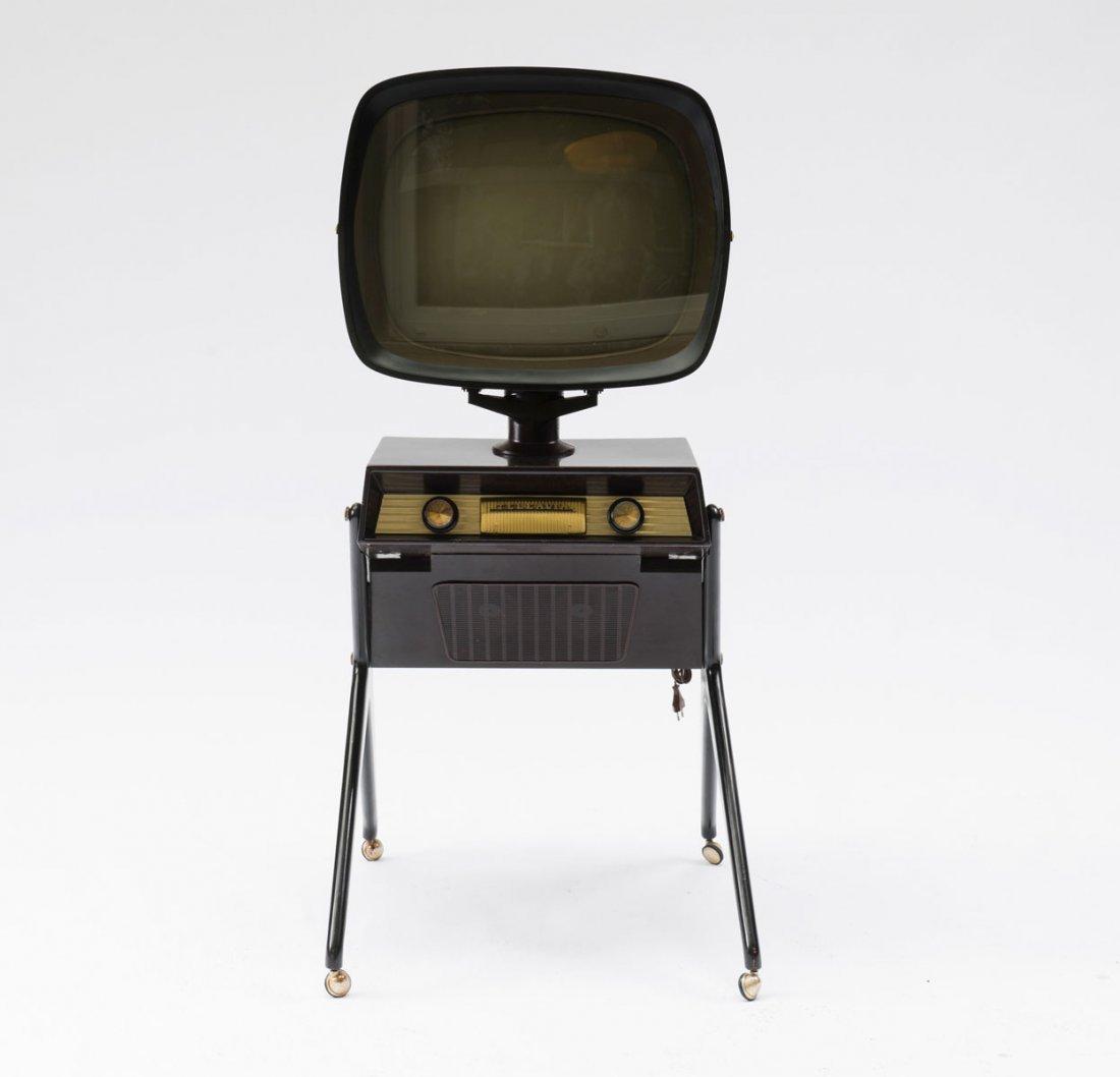 Teleavia, France. 'Teleavia' TV set, 1950s. H. 138 x 65 - 2