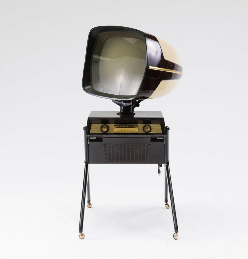 Teleavia, France. 'Teleavia' TV set, 1950s. H. 138 x 65 - 4