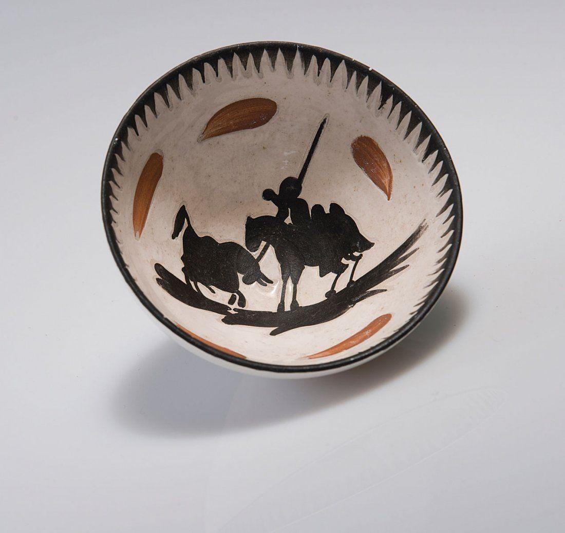 Pablo Picasso. 'Le picador' bowl, c1953. H. 6.4 cm; D.