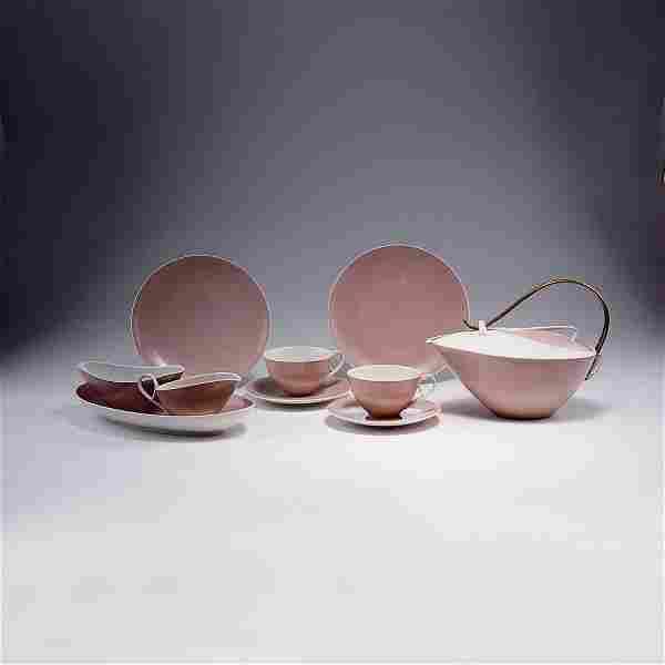 Siegmund Schôtz. 'Orangerie' tea set, 1954. 16 pieces.