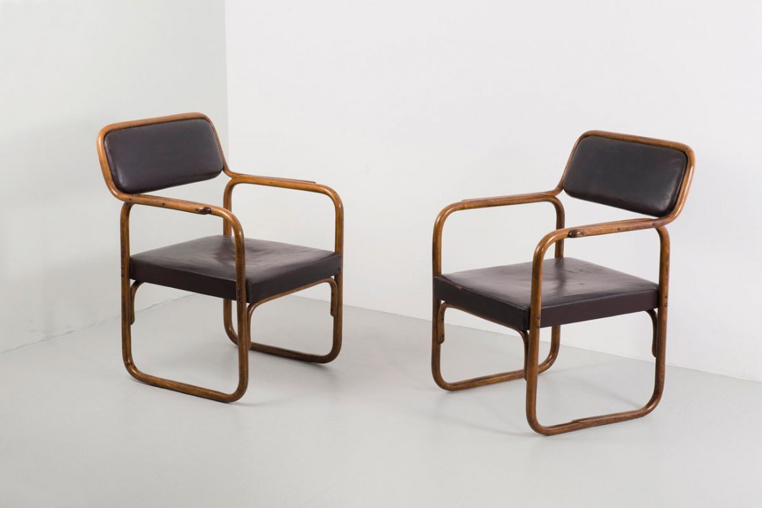 Pair of 'A 60 F' armchairs