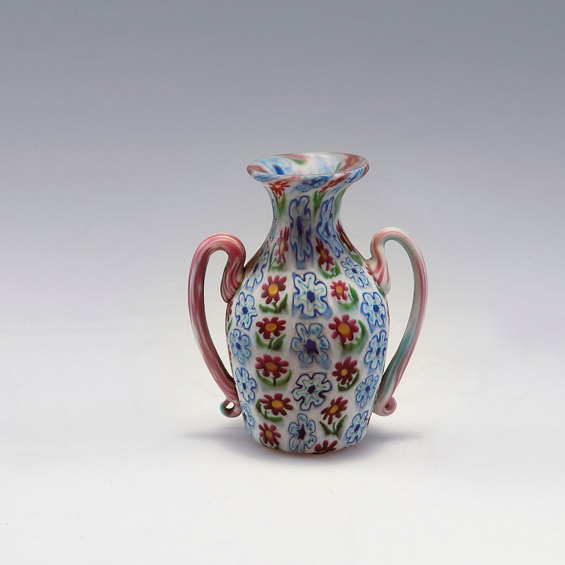 Small 'Murrine vase with handles