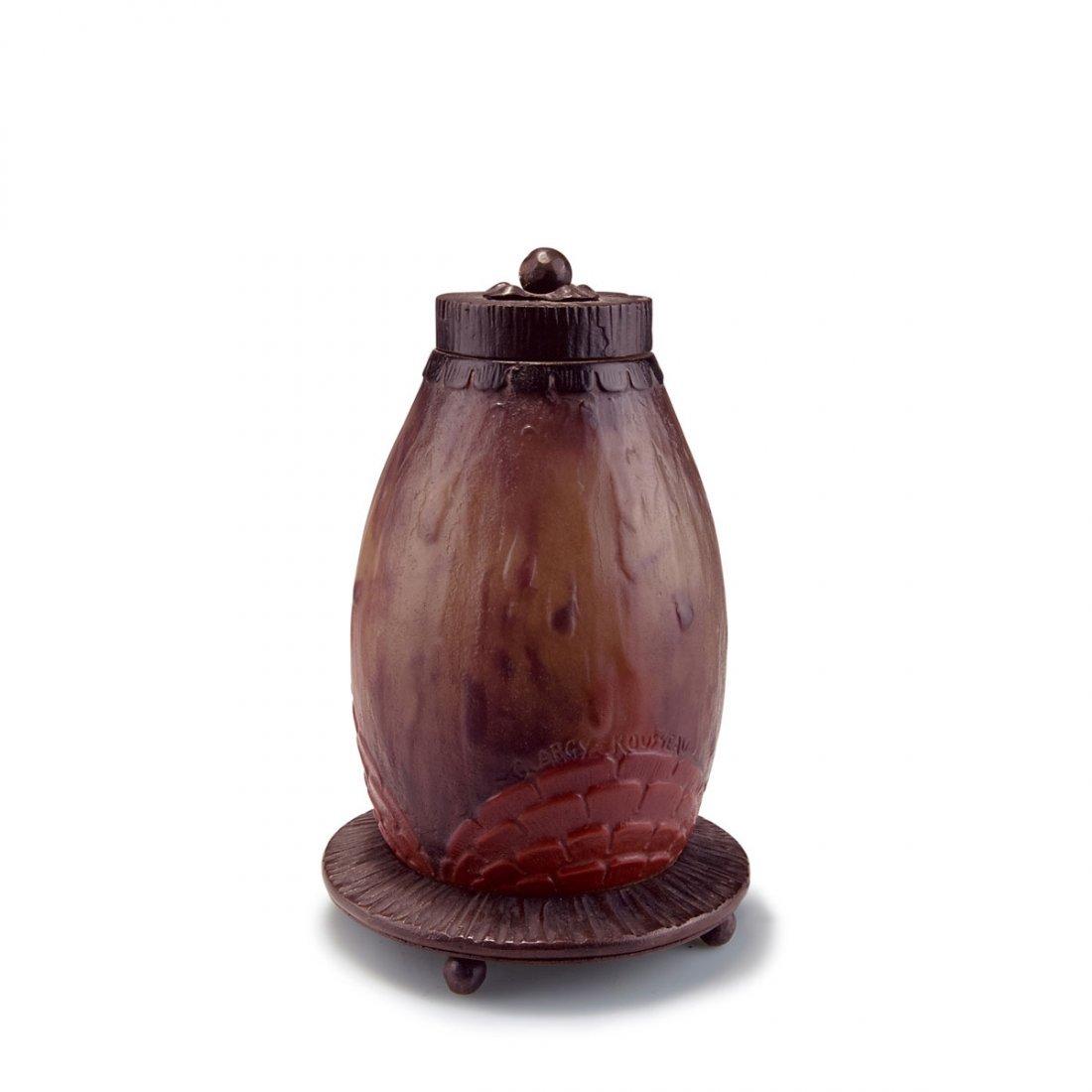 Gabriel Argy-Rousseau, Paris. Table light, 1925. H.