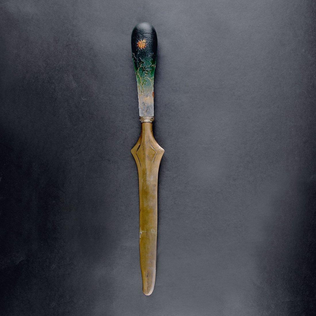 Daum Freres, Nancy. 'Chardons' paper knife, c1895. L.