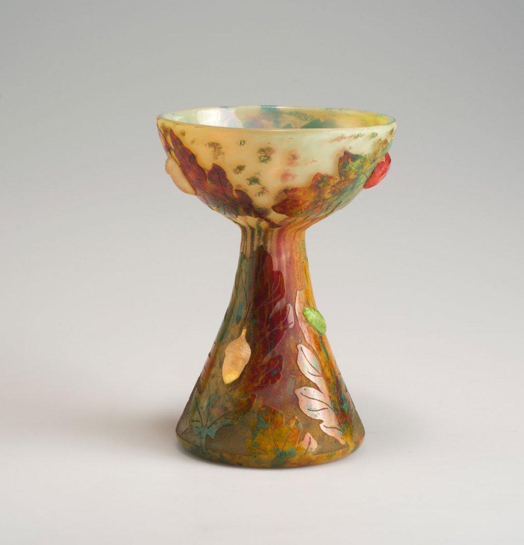 Daum Freres, Nancy. 'Feuilles d'automne' vase, 1901. H.