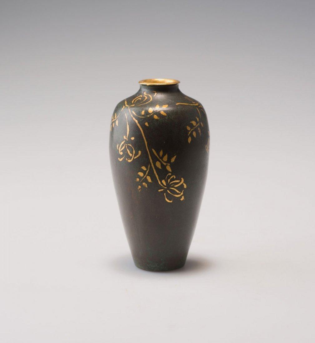 Christofle & Cie., Paris. Small vase, c1920. H. 10.8
