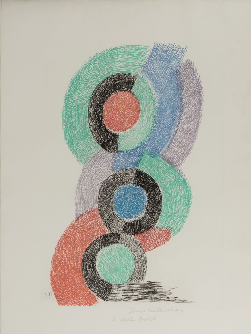 Sonia Delaunay-Terk. 'Rythmes colores', 1967. 48.0 x